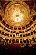 Frescoes Prints - Budapest Opera House Interior Print by Artur Bogacki