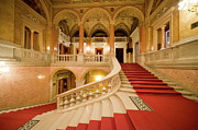 Foyer Prints - Budapest Opera House Interior Staircase Print by Artur Bogacki