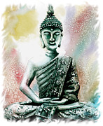 Serenity Prayer Paintings - Buddah by Steven Ponsford