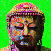 Japanese People Digital Art Posters - Buddha 20130130m100 Poster by Wingsdomain Art and Photography