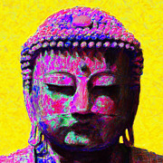 Japanese People Digital Art Posters - Buddha 20130130m168 Poster by Wingsdomain Art and Photography