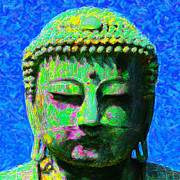 Heads Digital Art Prints - Buddha 20130130p0 Print by Wingsdomain Art and Photography
