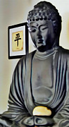 Tibet Mixed Media Prints - Buddha Print by Todd and candice Dailey