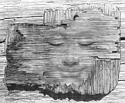 Mario Labonte - Buddha Face On Wood