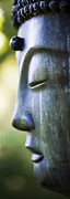 Buddha Photo Metal Prints - Buddha Face Metal Print by Tim Gainey