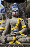 Buddha Figure In Kathmandu Nepal Print by Robert Preston