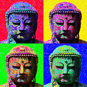 Japanese People Digital Art Posters - Buddha Four 20130130 Poster by Wingsdomain Art and Photography