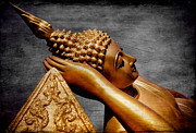 Buddhist Art - Buddha Golden by Adrian Evans