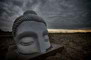 Rogers Beach Prints - Buddha Head public art  Print by Sven Brogren