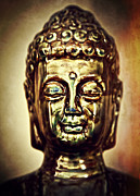 Buddha Statue Prints - Buddha Head Print by The  Vault - Jennifer Rondinelli Reilly