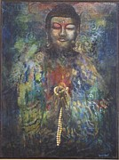 Praying Hands Prints - Buddha in Prayer Print by Sharon Lacy-Huff