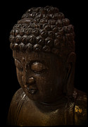 Los Angeles Digital Art Metal Prints - BUDDHA in the DARK Metal Print by Daniel Hagerman