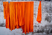 Drying Laundry Posters - Buddha - Karmic Clean Poster by Dean Harte