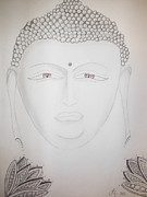 Buddhist Drawings - Buddha by Lori Thompson