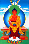 Amitabha Photo Framed Prints - Buddha of Infinite Light 39 Framed Print by Lanjee Chee