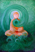 Buddha Paintings - Buddha Painting by Avril Whitney