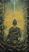 Ahimsa Paintings - Buddha. Presence by Vrindavan Das