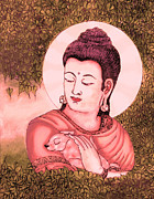 Buddha Red  Print by Loganathan E