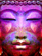 Statue Portrait Mixed Media Prints - Buddha Renunciation Print by Khalil Houri