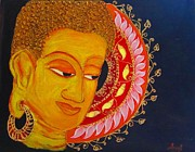 Budha Mixed Media Posters - Buddha Poster by Soumi Sarkar
