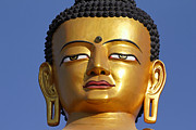 Buddha Statue Prints - Buddha Statue at the Buddha Park in Kathmandu Nepal Print by Robert Preston