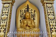 Buddha Statue At The World Peace Pagoda Pokhara Print by Robert Preston
