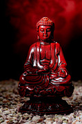 Enlightenment Posters - Buddha Statue Figurine Poster by Olivier Le Queinec