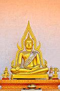 Praying Sculpture Posters - Buddha Statue Poster by Keerati Preechanugoon