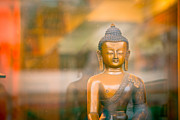 Sculpture Ideas Prints - Buddha statue Print by Raimond Klavins