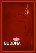 Religious Digital Art Prints - Buddha The Compassionate Print by Tim Gainey