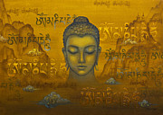 Tibetan Buddhism Paintings - Buddha. The message by Yuliya Glavnaya
