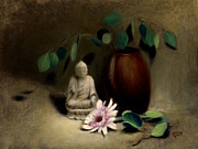 Bodhi Tree Art - Buddha Under the Bodhi Tree. by Christy Olsen