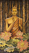 Artdeco Paintings - Buddha by Vrindavan Das