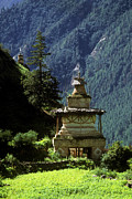 Symbolize Posters - Buddhist Chorten - Dolpo District Nepal Poster by Craig Lovell