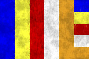 Enlightenment Prints - Buddhist Flag Print by World Art Prints And Designs