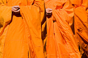 Buddhist Monks Framed Prints - Buddhist Monks 02 Framed Print by Rick Piper Photography