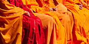 Buddhist Monk Photos - Buddhist Monks 04 by Rick Piper Photography