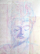 Painted Mixed Media - Buddhist Queen of Long Ago by Asha Carolyn Young