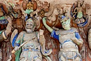 Travel China Posters - Buddhist statue at Dazu Stone carvings China Poster by Fototrav Print