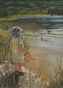 Ducks Pastels - Budding Wildlife Expert by Harriett Masterson
