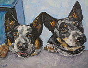 Buddy And Bandit Print by Kellie Straw