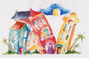 Buddy Buildings Print by Pat Katz