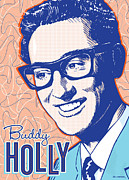 Holly Posters - Buddy Holly Pop Art Poster by Jim Zahniser