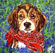 Beagle Puppies Paintings - Buddy by Jackie Carpenter