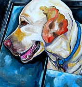 Smiling Painting Posters - Buddy Poster by Patti Schermerhorn