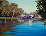 Shed Painting Prints - Budgewoi Creek Print by Graham Gercken