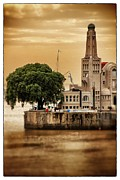 Travel Argenina Framed Prints - Buenos Aires Lighthouse Dramatic Framed Print by For Ninety One Days