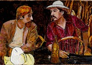 Hickok Prints - Buffalo Bill and Wild Phil Print by Phil Strang