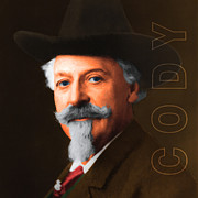 The American Buffalo Acrylic Prints - Buffalo Bill Cody 20130516 square with text Acrylic Print by Wingsdomain Art and Photography