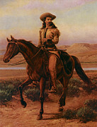 Cary Prints - Buffalo Bill on Charlie Print by William Cary